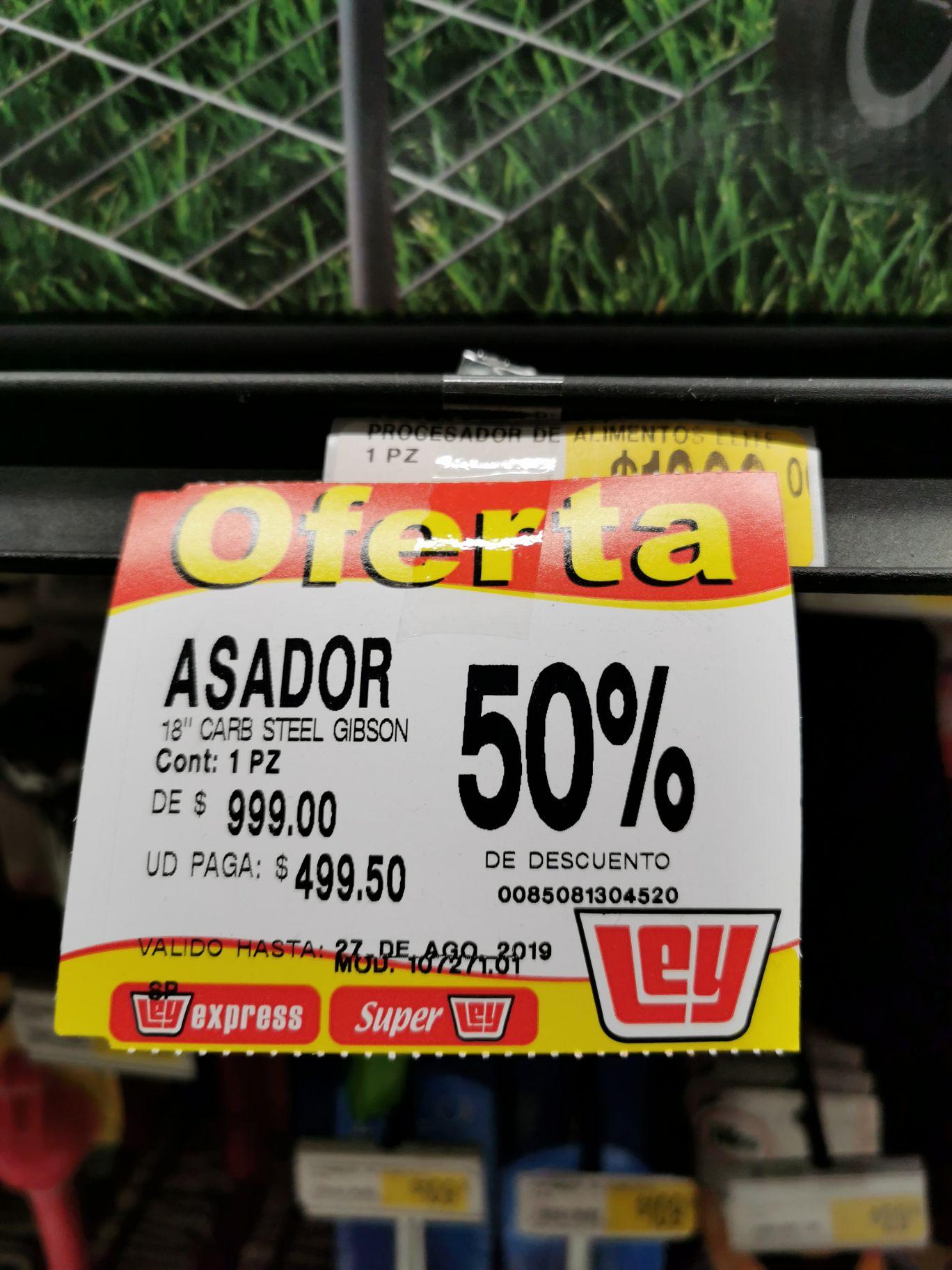 Casa Ley Culiacán: Asador Gibson 50% descuento