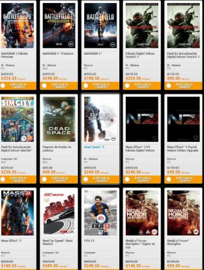 Origin: Battlefield 3 Premium $250 y Dead Space 3, Dead Space $50 y más