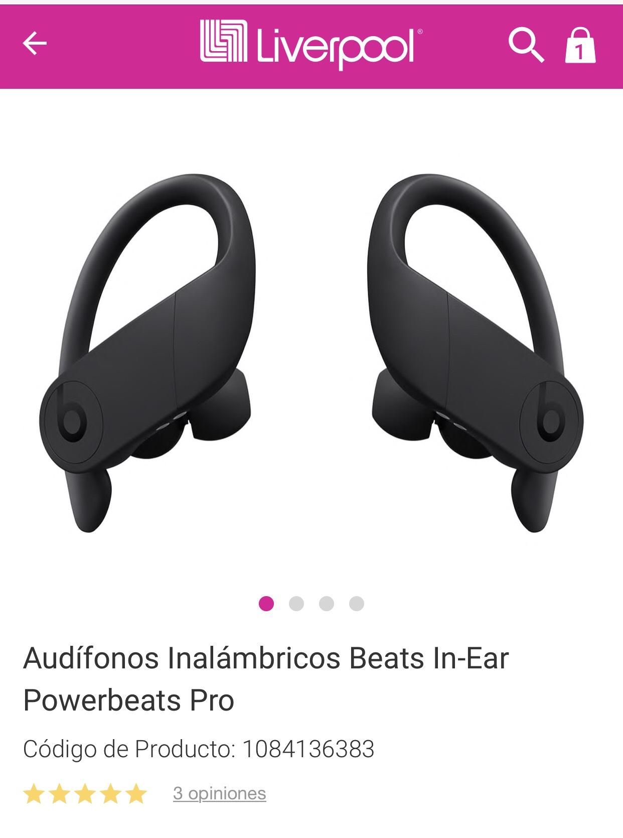 liverpool Audífonos inalámbricos Powerbeats Pro