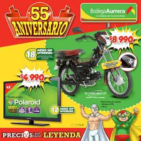 Segundo Folleto Bodega Aurrera 55 aniversario