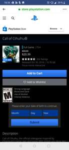 PlayStation Store: Call of Cthulhu