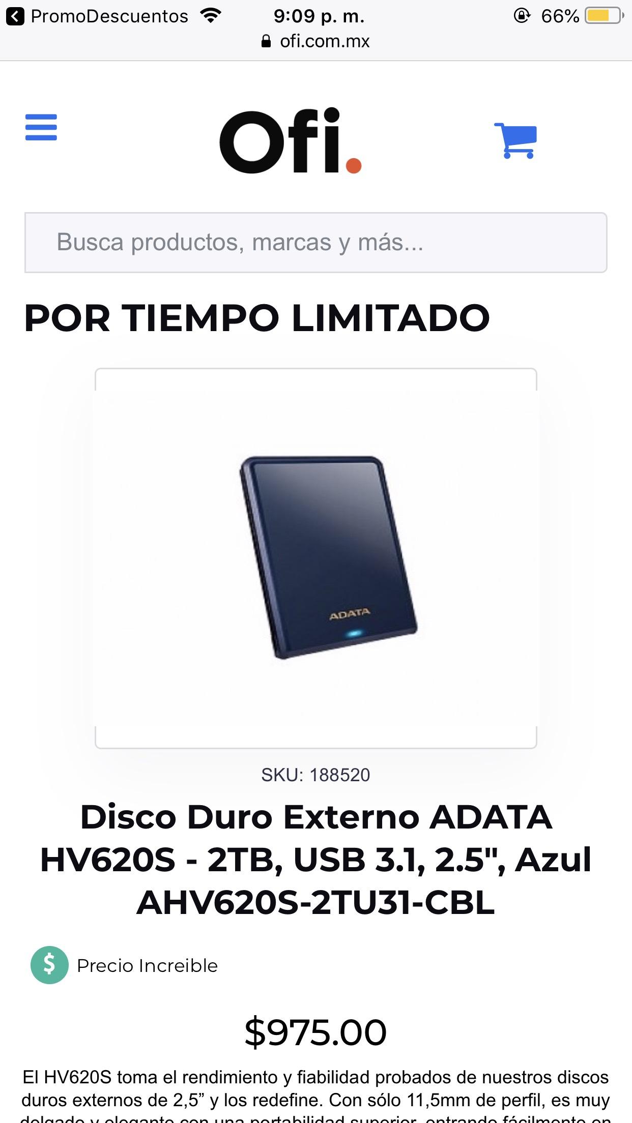 Ofi: Disco duro 2tb en súper precio!!!