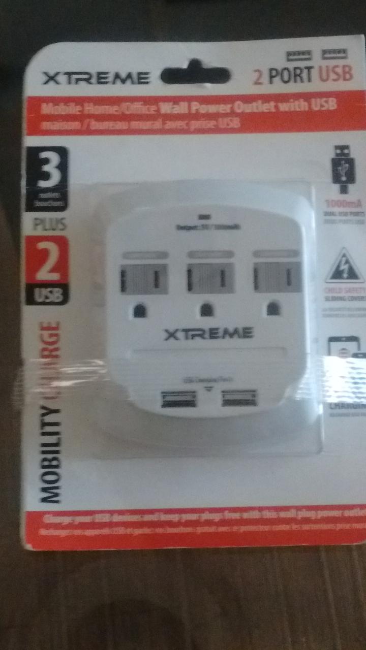 Walmart: placa con 3 contactos polarizados y 2 USB 75.01