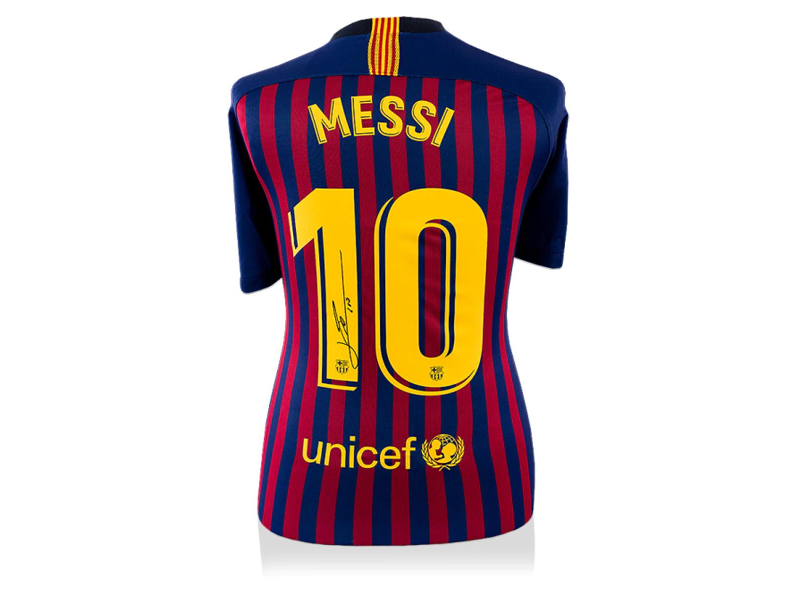 Playera autografiada por Leonel Messi