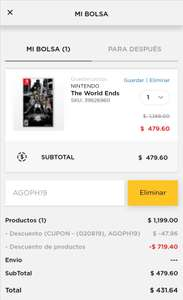 Palacio de Hierro: The Worlds ends with you Nintendo switch