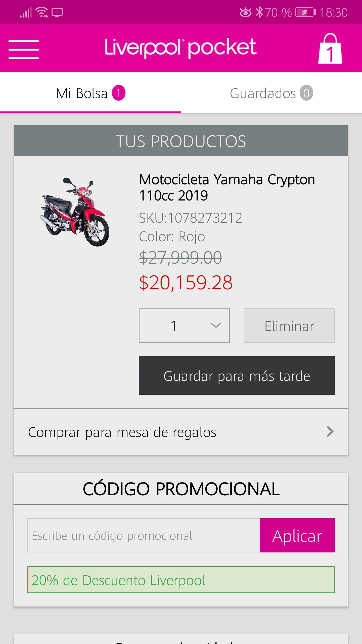 Liverpool en línea: Yamaha Crypton 2019
