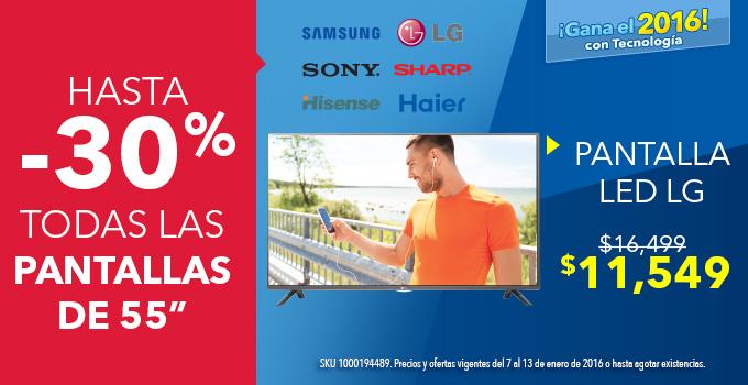 """Best Buy: Pantallas de 55"""" con hasta 30% de descuento"""