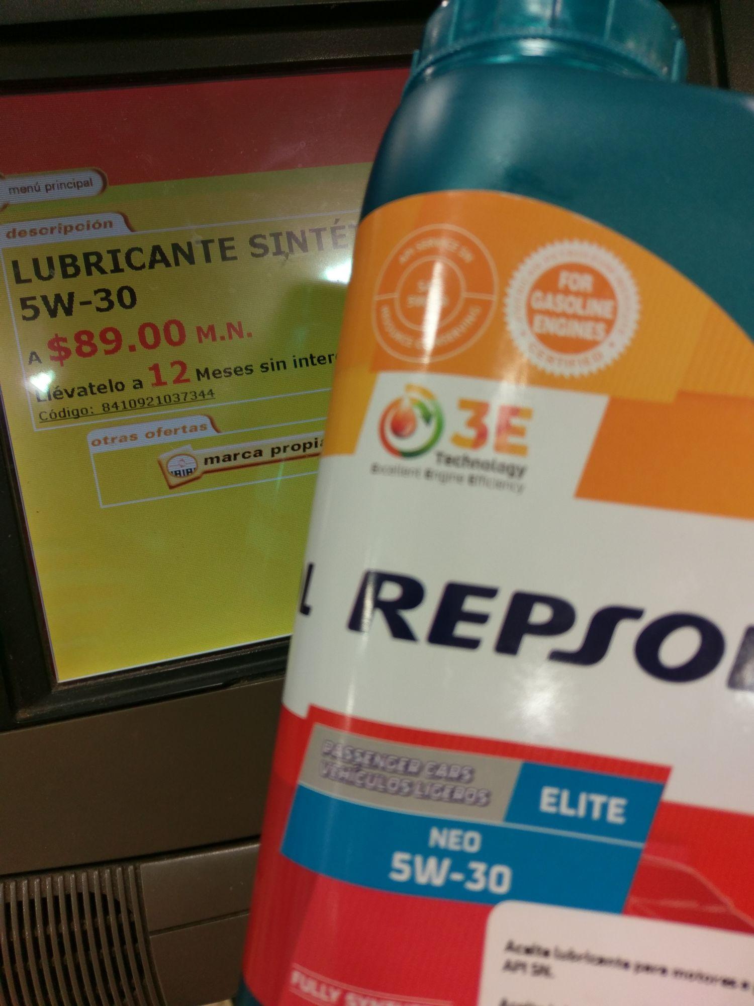 Soriana : 3x2 Repsol Aceite Sintético 5w30