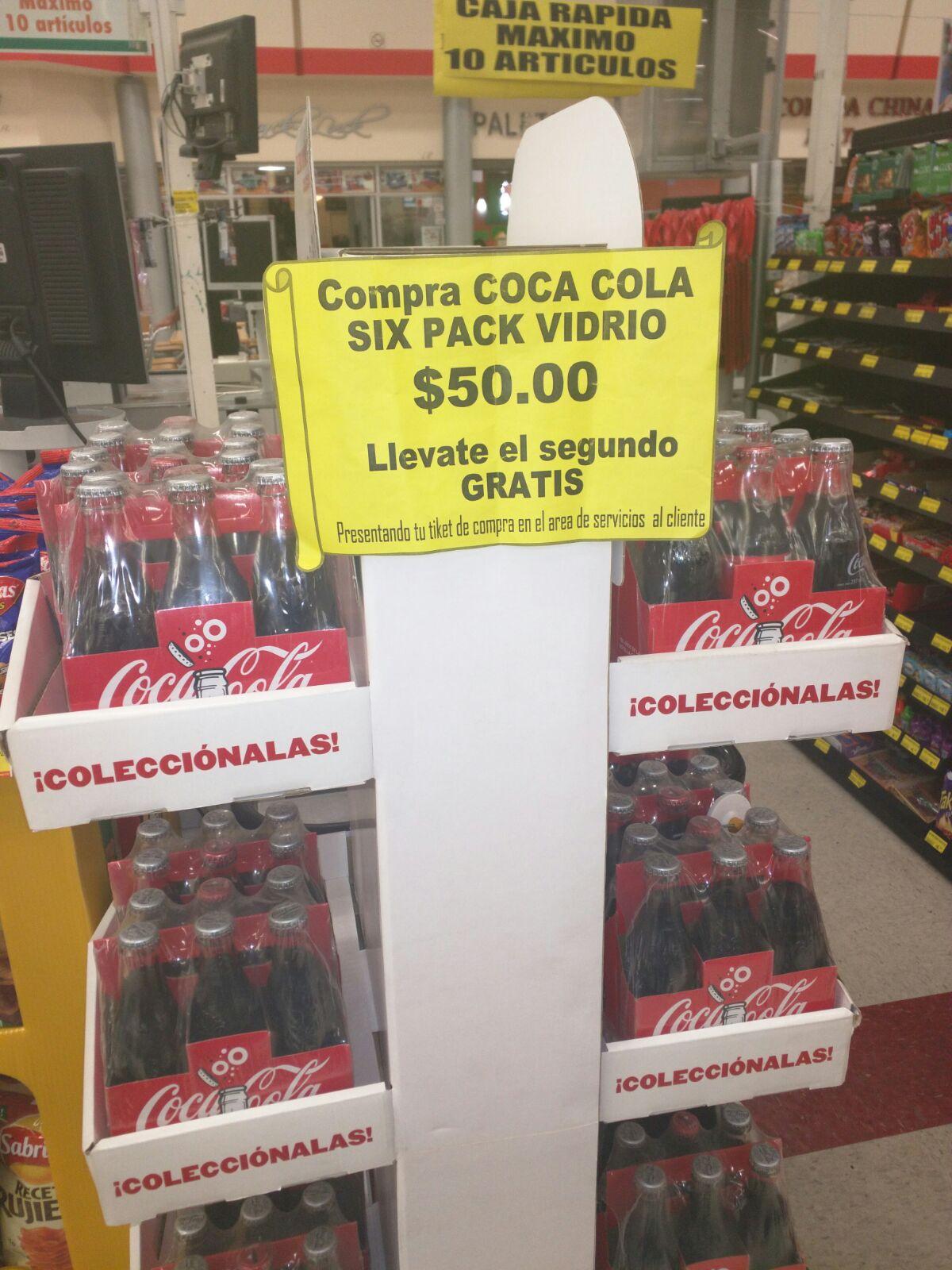 Soriana Hiper: Six de Coca-Cola 237 ml 2 por $50