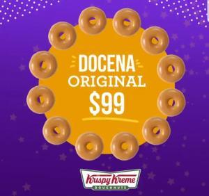 Krispy Kreme Docena de donas x $99 Recordatorio