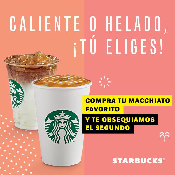 Starbucks: Macchiato 2x1 (del 12 al 14 de Agosto)
