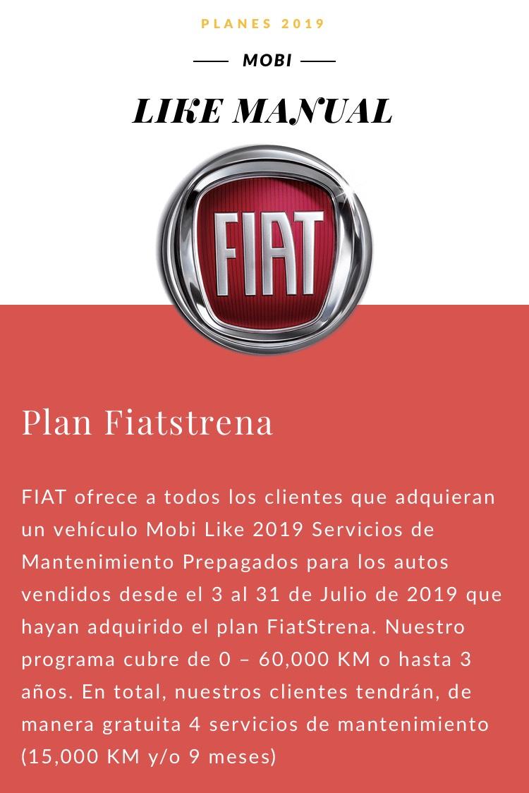 Fiat Mobi 2019: 3 Años de Servicio Gratis + Bono $15,000 + 0% CxA + 7 Años de Garantía, Auxilio Vial y seguro de interiores