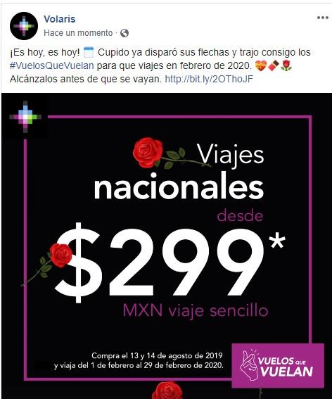 Volaris: Viajes nacionales desde $299 (viaje del 1 al 29 de febrero del 2020)