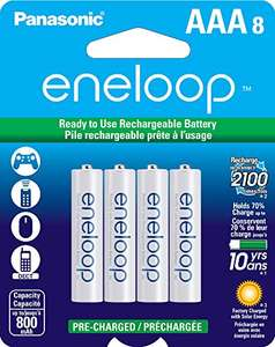 Amazon: Bateria Eneloop AAA (Son 8 pilas)