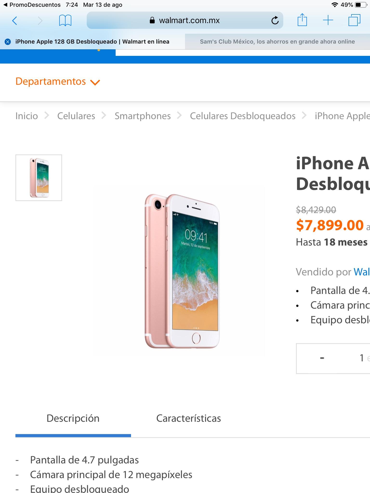 Walmart: iPhone 7 128gb