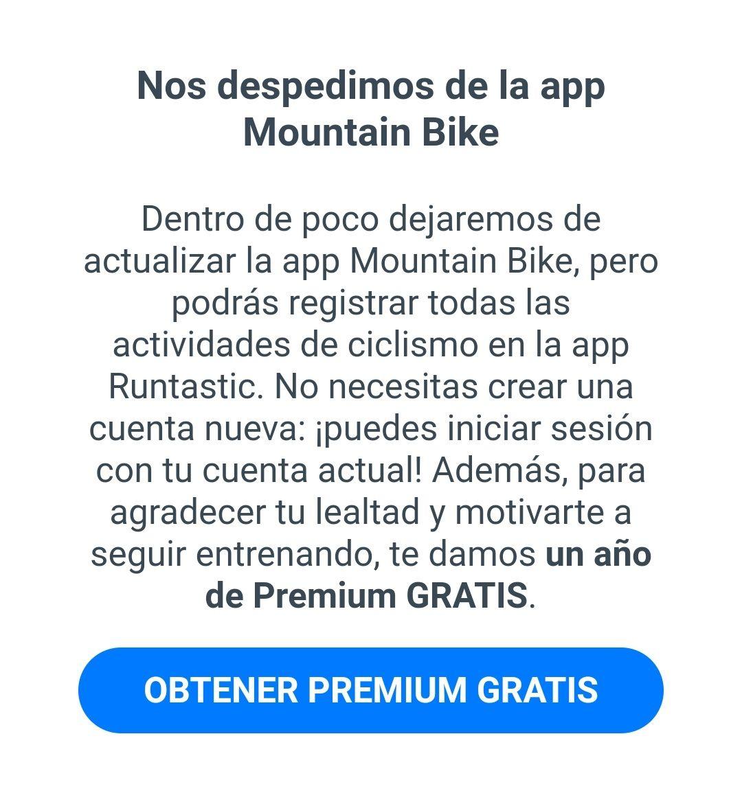 Runtastic: App Runtastic premium por un año gratis