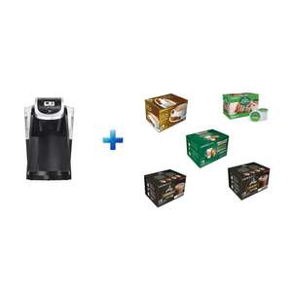 Best Buy Keurig - Paquete Cafetera Negra + 5 Cubos Keurig