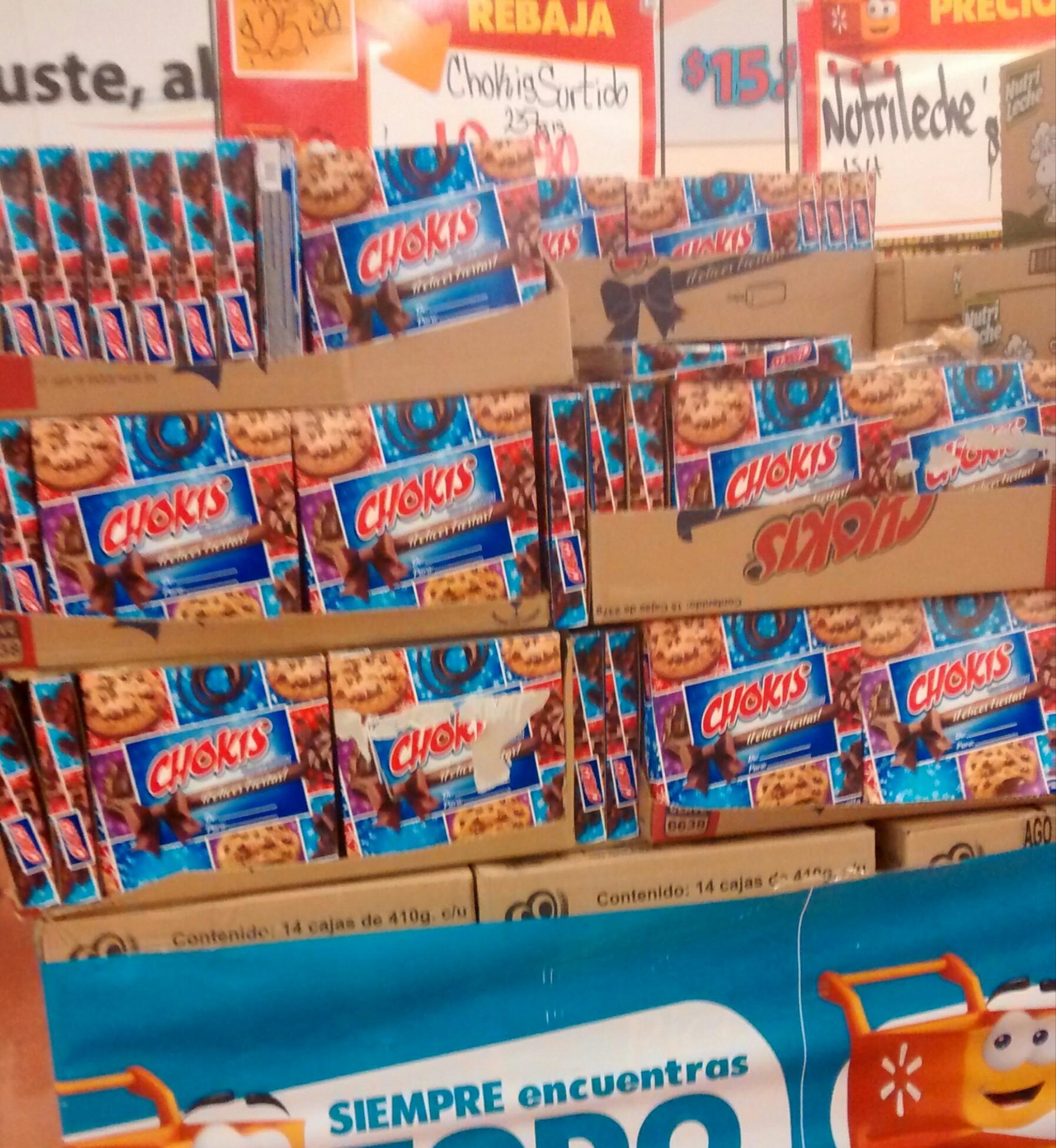Walmart: Caja navideña chokis a $19.90
