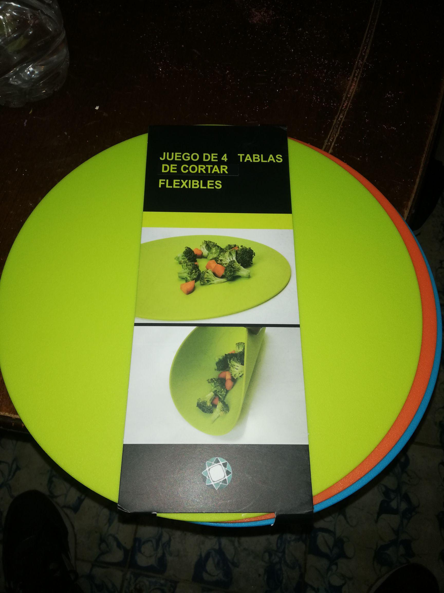 Chedraui acueducto: set de 4 tablas para picar y tenedores biodegradables en $1.01