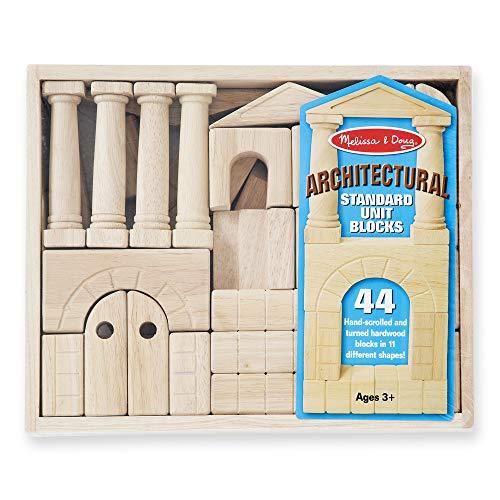 Amazon: Melissa & Doug | 44 Bloques de Construccion Arquitectura Madera (Sólo 2 en stock)