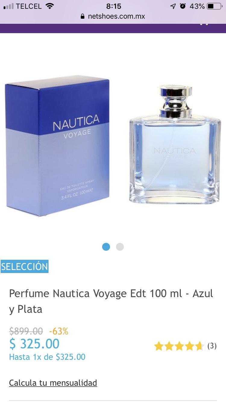 Netshoes: Perfume Náutica Voyage Edt Azul y Plata, Netshoes
