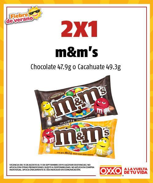 Oxxo: 2X1 en Chocolates M&M's