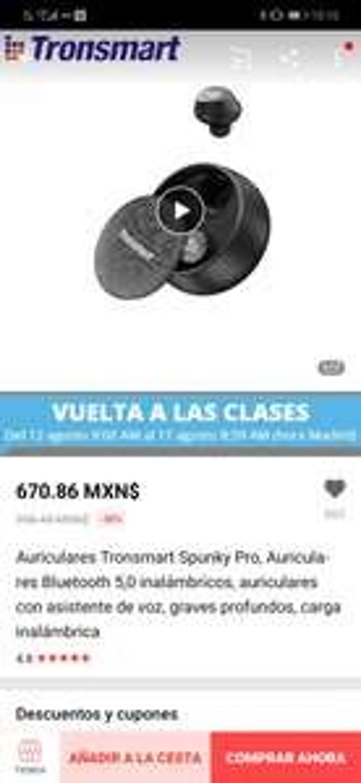 AliExpress: Auriculares Tronsmart Spunky Pro,