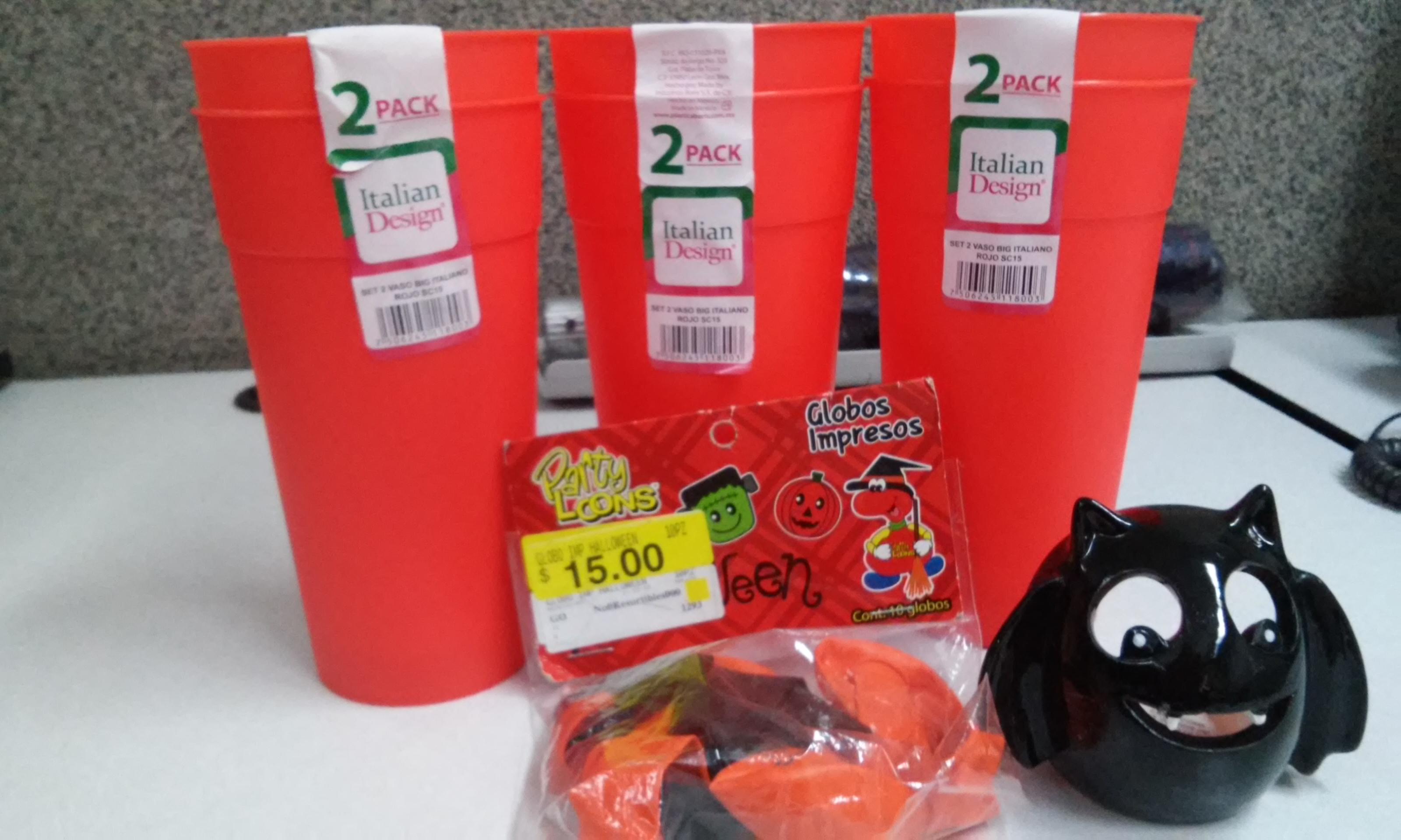 Walmart Cuitlahuac: Set de 2 vasos diseño italiano $3.01