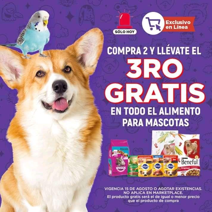 HEB: 3x2 en Todo El Alimento Para Mascotas
