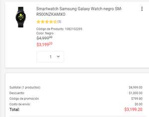 Liverpool: Samsung Galaxy Watch Active Negro