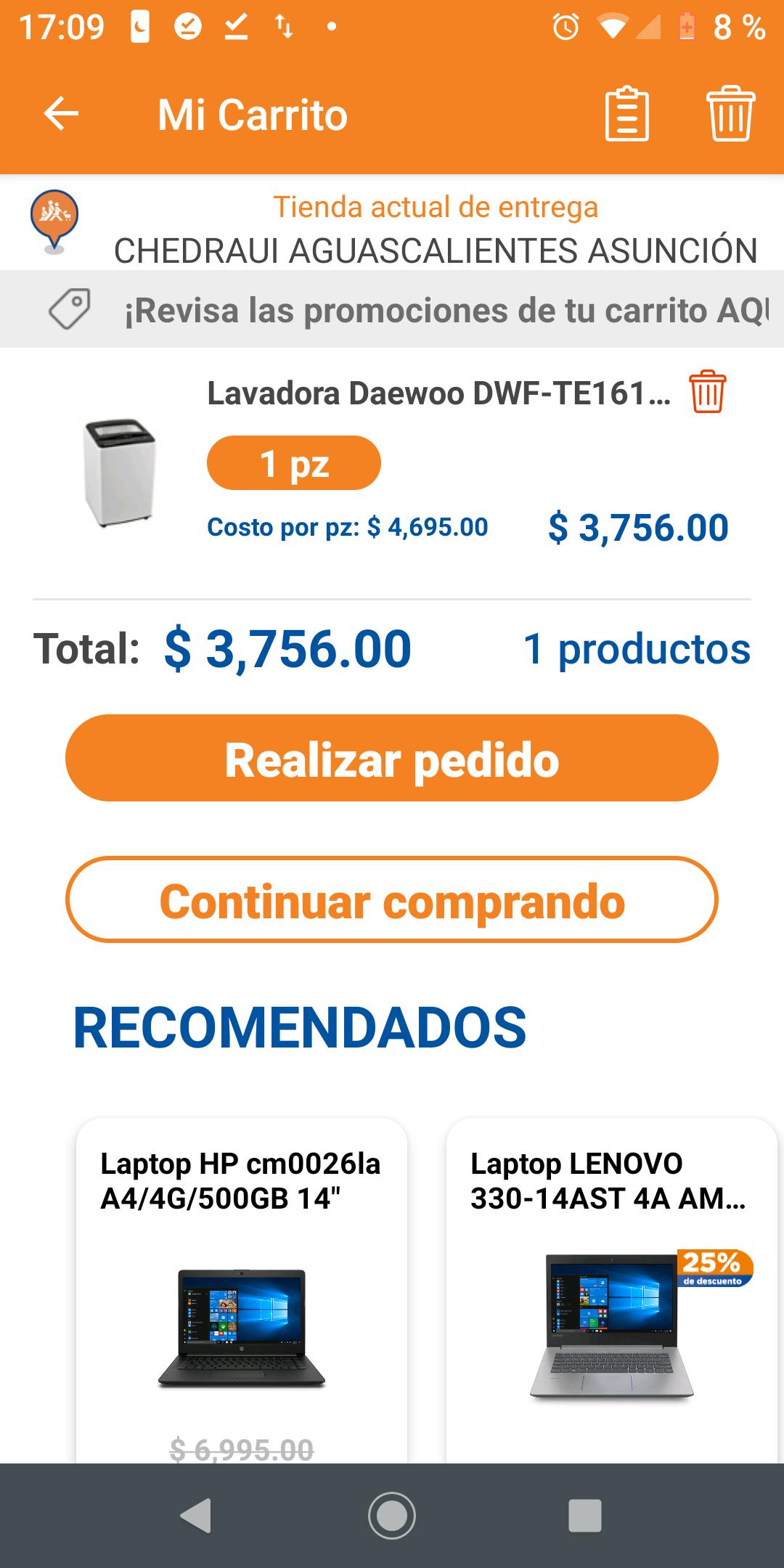 Chedraui: Lavadora Automatica Daewoo 10kgs