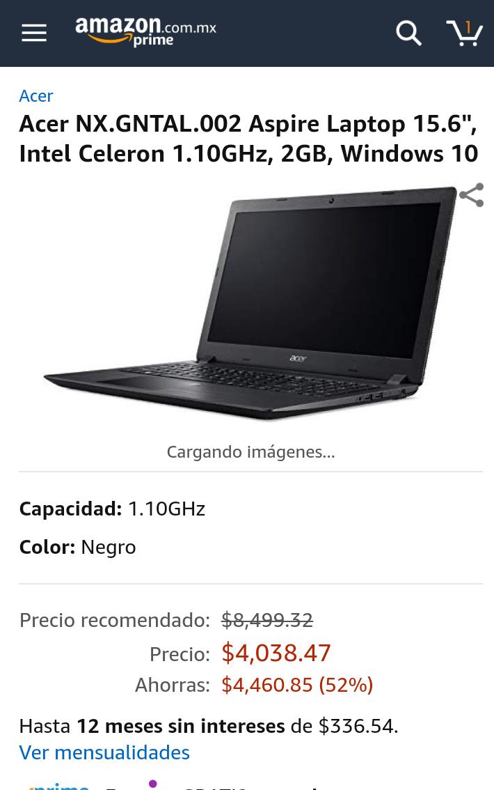 Amazon: Acer NX.GNTAL.002 Aspire Laptop