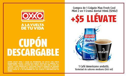 Oxxo: Café Andatti en $5 al comprar un Colgate Max Fresh Cool Mint