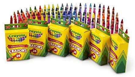 Amazon: CRAYOLA 6 paquetes de 24crayolas.