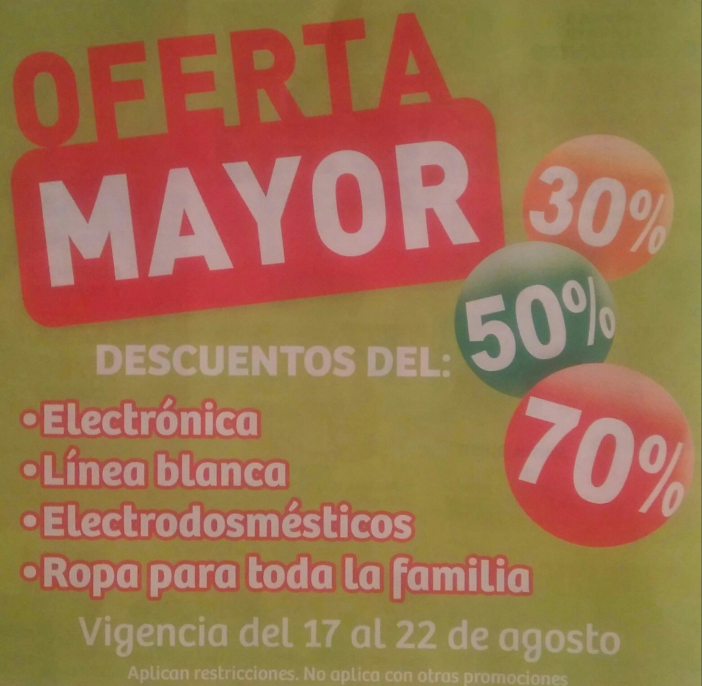 Soriana Híper y MEGA: Oferta Mayor del Sábado 17 al Jueves 22 de Agosto... Descuentos del 30%, 50% y 70%
