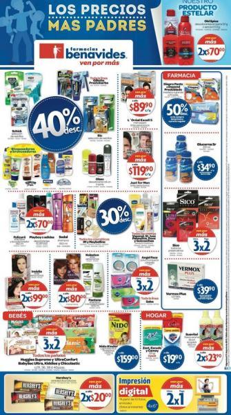 Farmacias Benavides: 3x2 en pañales, línea Saba, 40% de descuento en bloqueadores y +