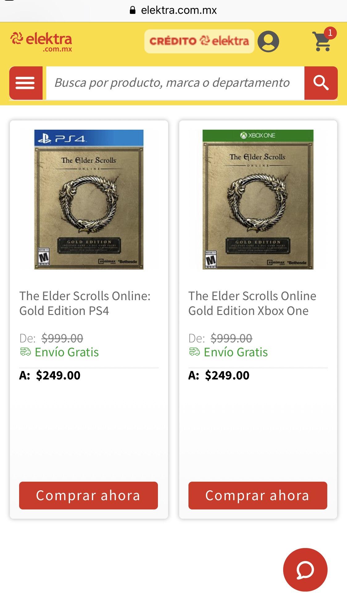 elektra The elder scrolls onlin: gold edition  ps4/xbox one