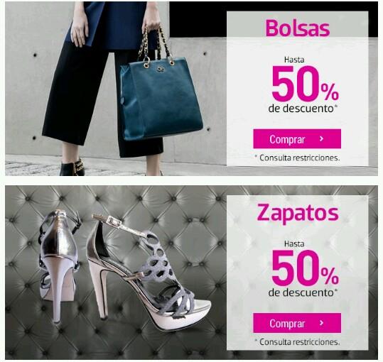 Liverpool: hasta 50% de descuento en bolsas y zapatos