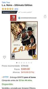 Amazon US: L.A. Noire Nintendo Switch