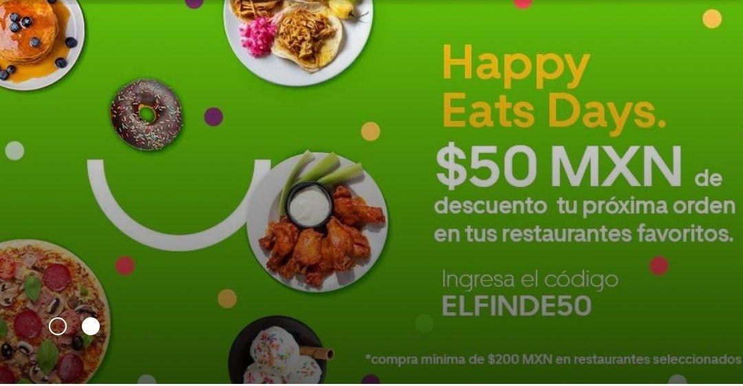 Uber Eats: Descuento de $50 en tu próxima orden