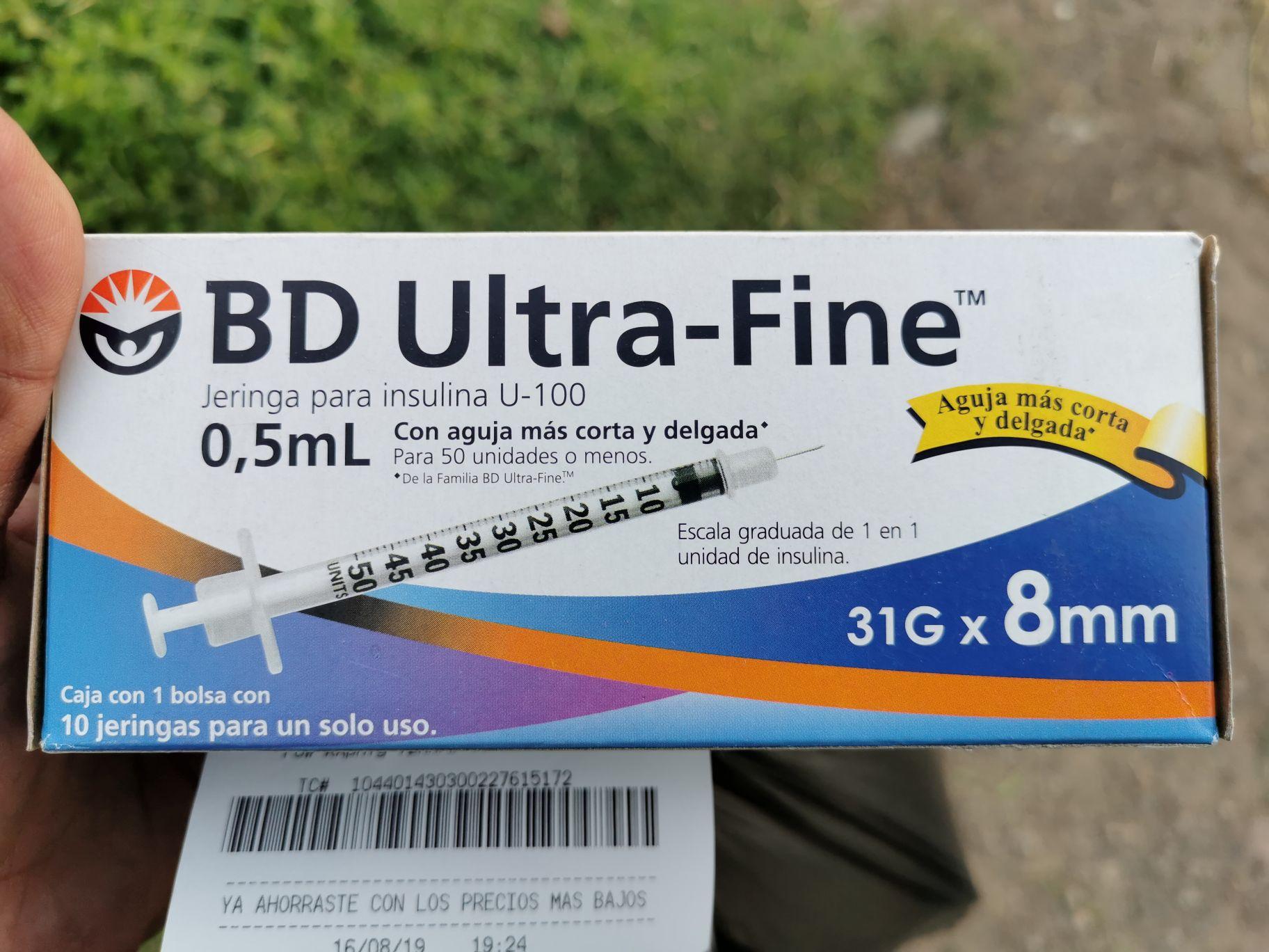 Bodega Aurrera: Paq de jeringa insulina c/10 piezas