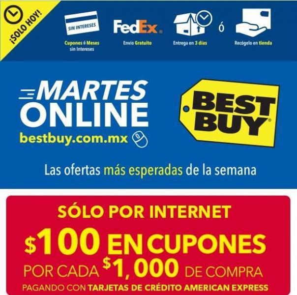 Best Buy martes online: $100 de bonificación por cada $1,000 con AMEX