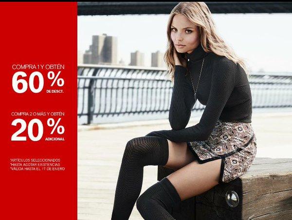Express rebajas de invierno: 60% de descuento (+20% extra comprando 2 prendas)