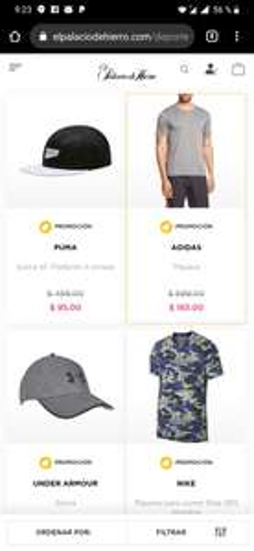 Palacio De Hierro: Ropa deportiva Nike, Adidas etc A más del 50% de descuento