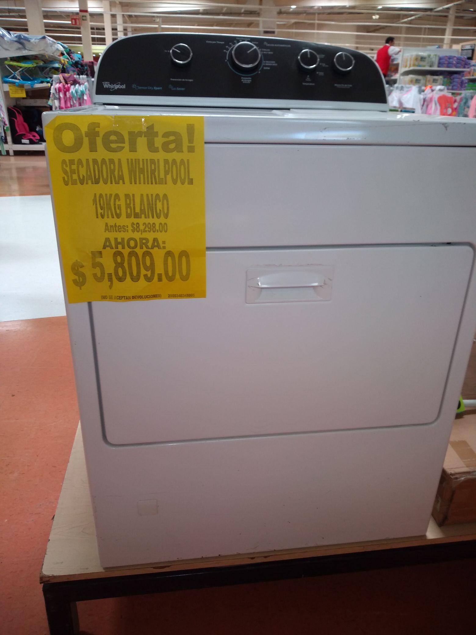 Soriana Secadora Whirlpool 19 kg