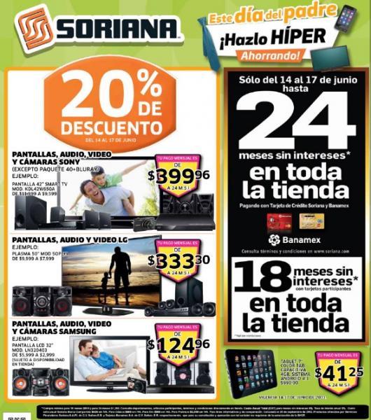 Folleto Soriana del 14 al 20 de junio 2013