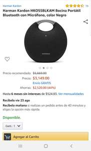 Amazon: Bocina Harman Kardon ONYX 5