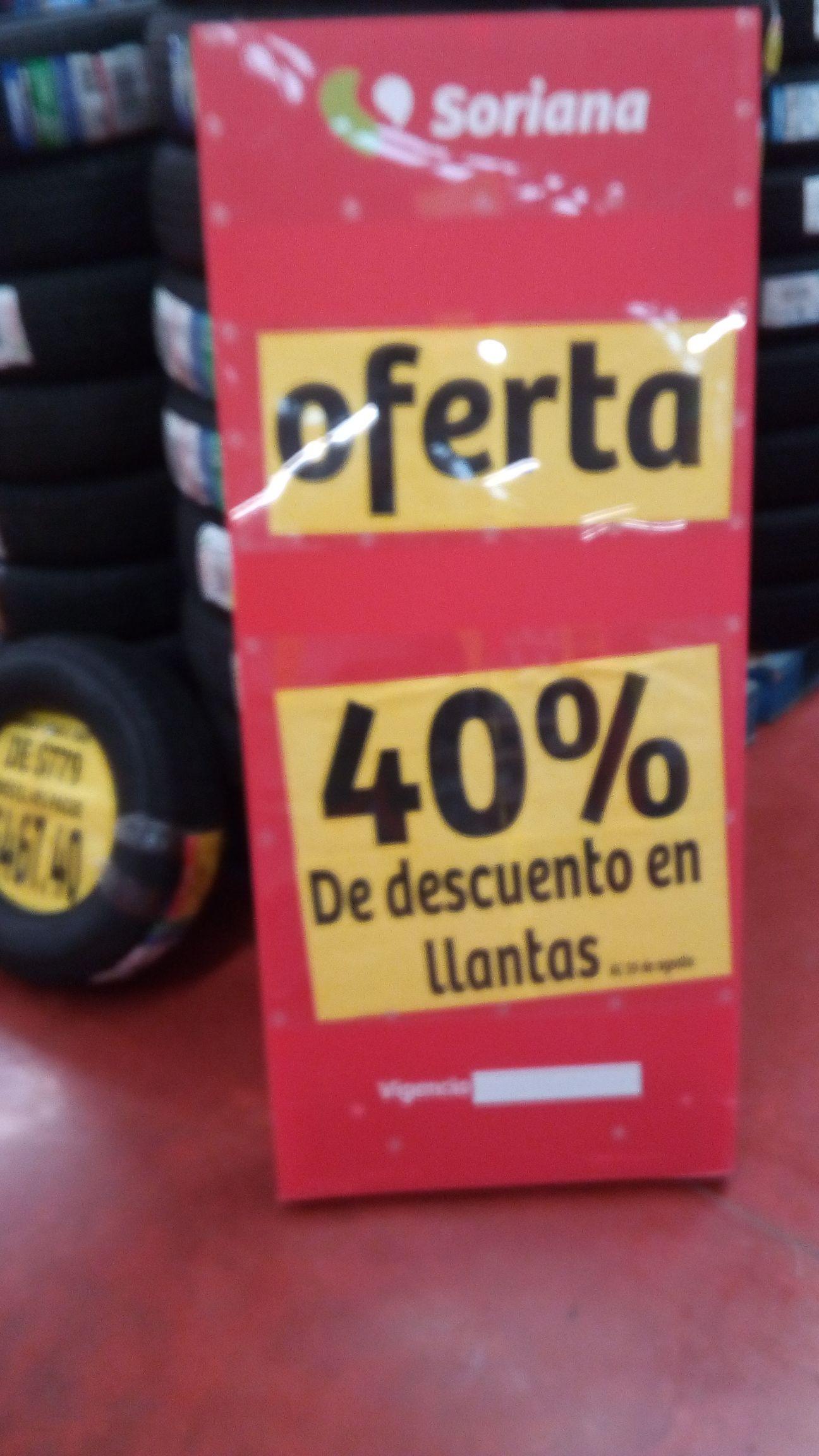 Soriana Hiper Av.128 : 40% de Descuento en Todas Las Llantas y Baigon Casa Y Jardín 400 ML a $20.66