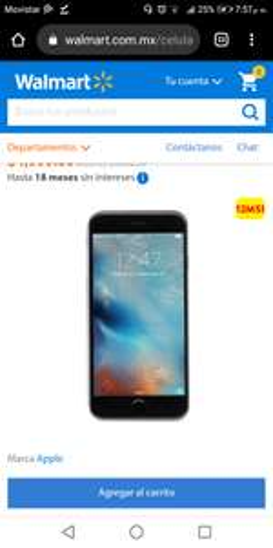 Walmart en línea: Apple iPhone 6s Reacondicionado