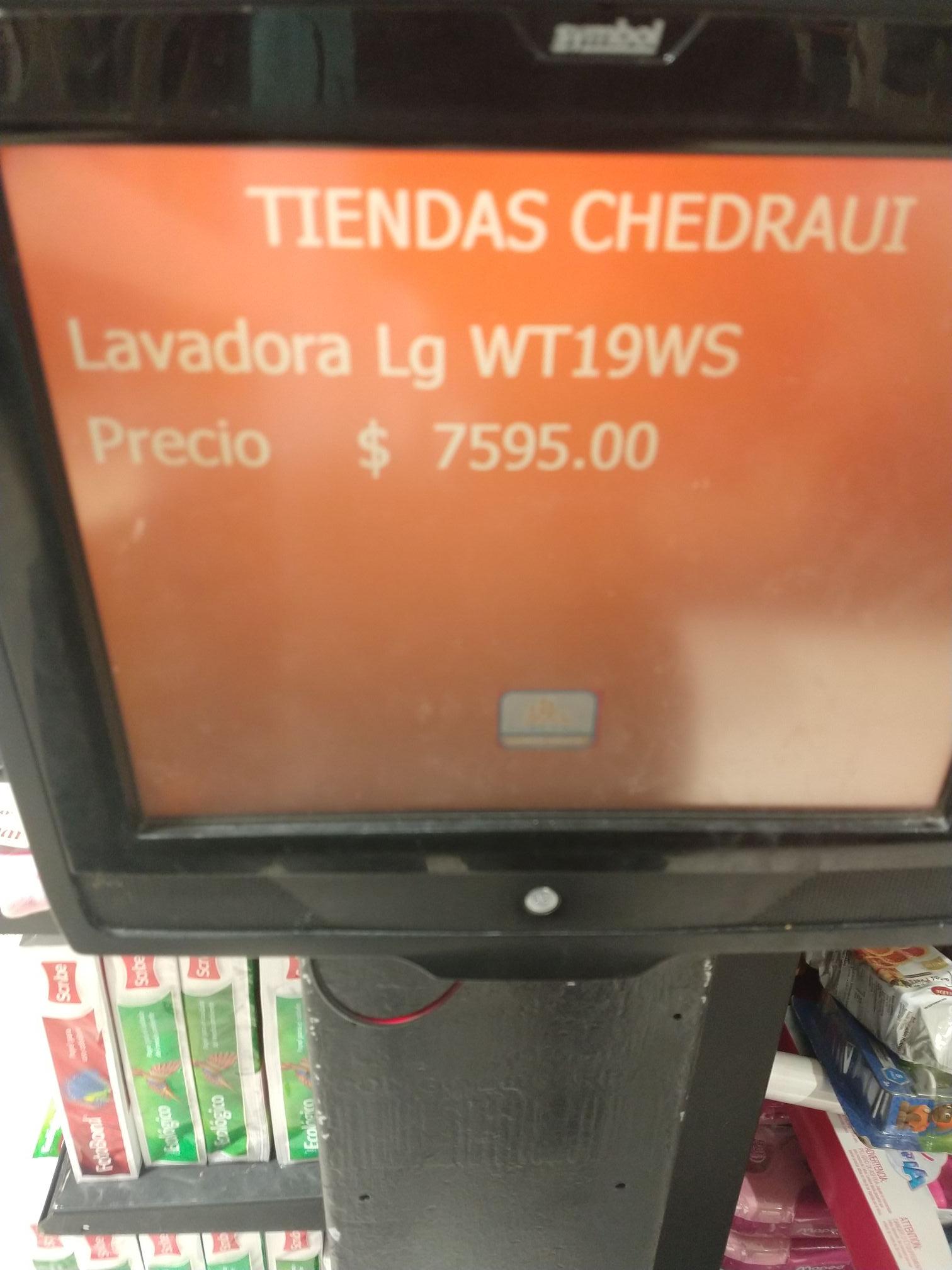 Chedraui: Lavadora LG Smart Inverter